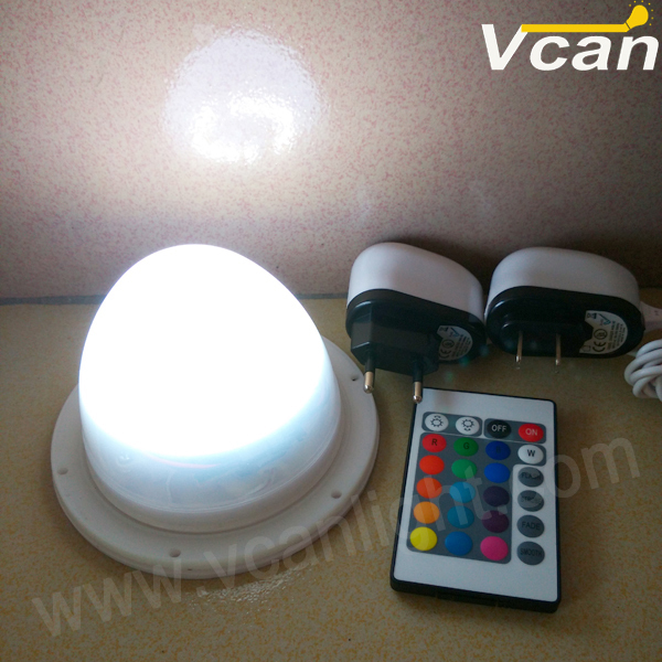 ФОТО 2pcs FAST Free Shipping 24RGB+14W RGBW  Rechargeable colors changing remote control Led flashing light