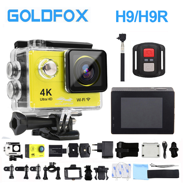 H9/H9R Ultra-HD 4K Action Camera 1080P HD Wifi Sports Video Camera 12MP DV 2.0LCD Go Extreme Pro Camera with waterproof Case
