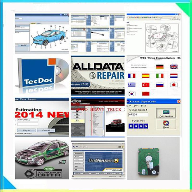 Alldata Software all data 1tb harddisk alldata and mitchell software 16 softwares with Vivid workshop elsawin heavy truck data 2017 alldata auto repair software v10 53 all data and mitchell software 2015 161g atsg moto heavy truck 4in1tb hdd