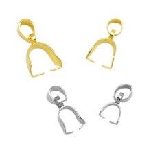 Broches de acero inoxidable para collar, accesorios para pulseras, abalorios, hebilla de semillas, DIY, 20 Uds.