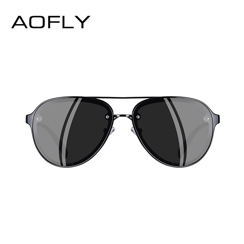 Image 3 - AOFLY ブランドデザインパイロットサングラス男性偏光サングラス UV400 ユニークなオーバルフレーム眼鏡 Gafas デゾル AF8115    グループ上の アパレル アクセサリー からの サングラス の中