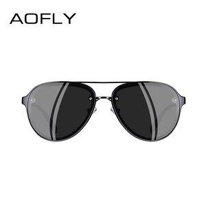 Image 3 - AOFLY di DISEGNO di MARCA Pilot Occhiali Da Sole Polarizzati Uomini di Guida Occhiali Da Sole UV400 Unico Cornice Ovale Occhiali Gafas De Sol AF8115