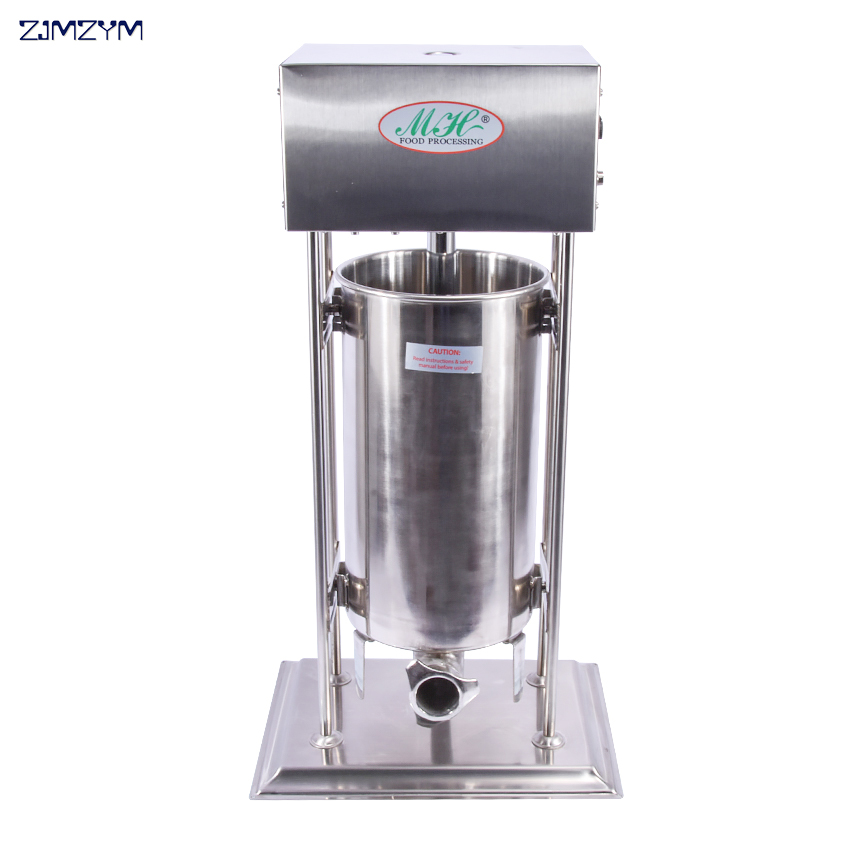 1 pz 15L In acciaio inox salsiccia elettrico stuffer   macchina di rifornimento salsiccia1 pz 15L In acciaio inox salsiccia elettrico stuffer   macchina di rifornimento salsiccia