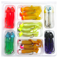 17 pcs/lot high quality fishing lures soft lure kit minnow lures worm lures