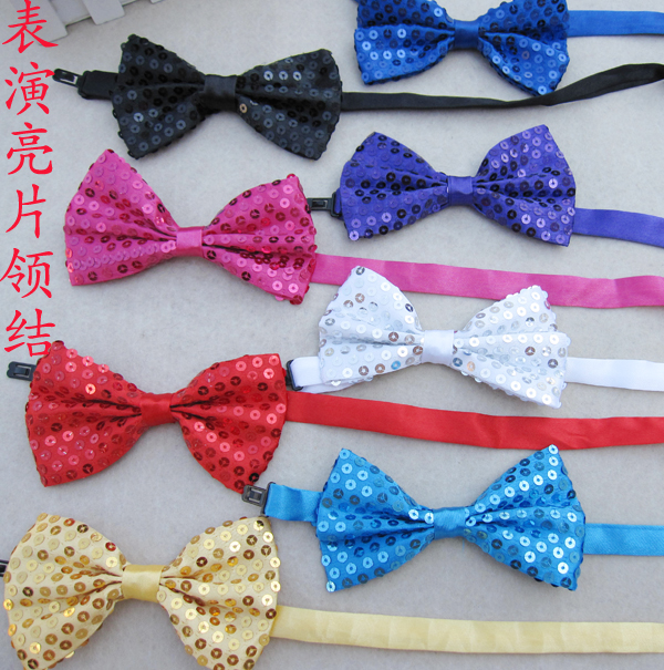 2016 Men children boy baby Sequins Party Bowtie Bowstudent Tie Pre Tied for suits