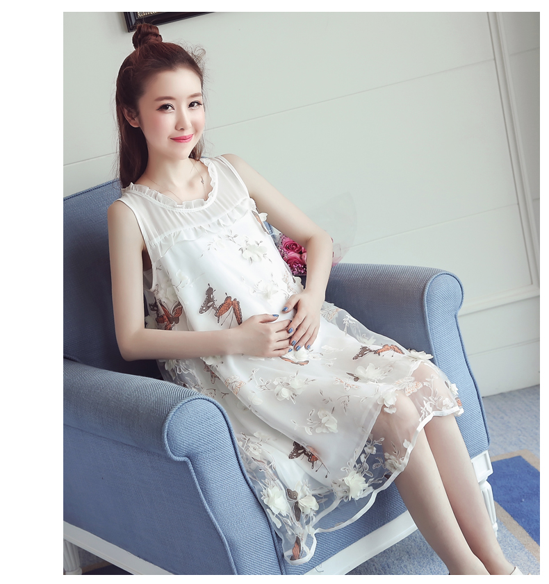 summer maternity party dresses a line loose tank clothes for pregnant women sexy pregnancy baby shower min dress