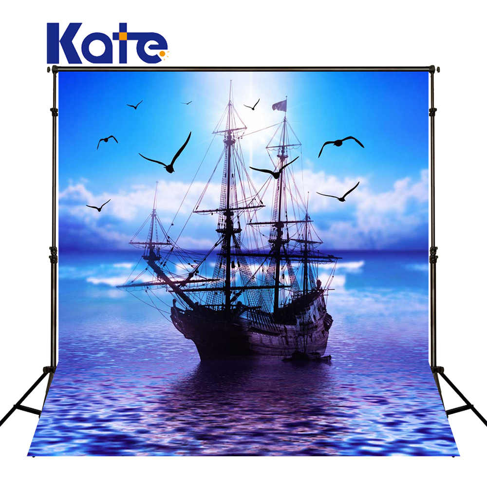 KATE Photography Backdrops Blue  Fairy Tale Photography Pirate Background Scenic Backdrops Children Photo Backdrop For Studio fairy tale arch printed newborn baby photo backdrops art fabric backdrop for studio children photography backgrounds d 9822