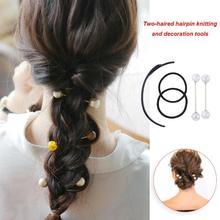 1 Set Elegant Crystal Magic Hair Braiding Twist Hairpin Hold