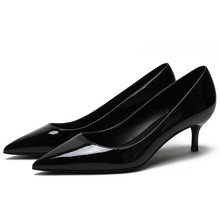 Woman Elegant Pumps Patent Leather Med Thin Heels Sexy Pointed Toe Pumps Basic Model Party Wedding Career Lady Shoes E0047 тонометр b well med 57
