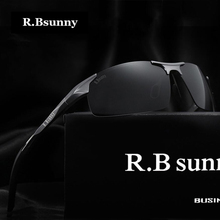 R.Bsunny Brand fashion Polarized men sunglasses Aluminum-magnesium alloy Polaroid lenses high quality drive polarized goggles