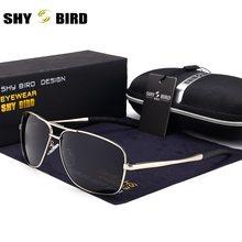 SHYBIRY Mens Classic vidrios polarizados conducción gafas de sol Vintage  marca diseñador de moda cuadrados para los hombres c9fde260eb28