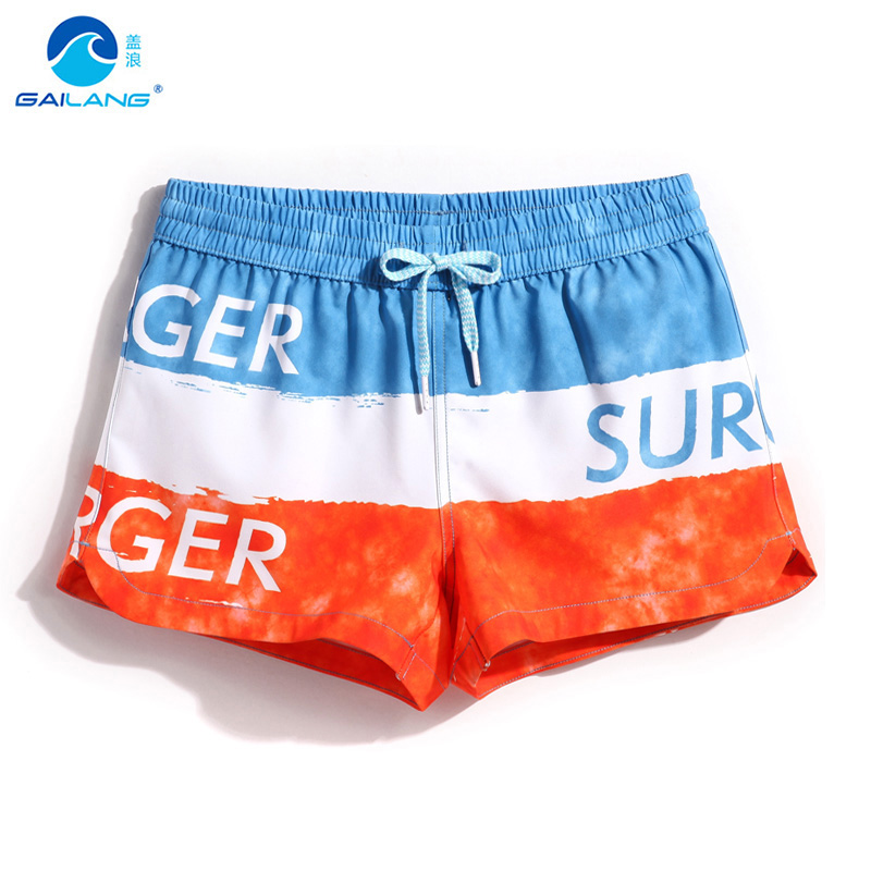 Gailang women's   board     shorts   swimming trunks sweat swimsuit beach surf bermudas big striped woman boardshort sport sexy swimwear