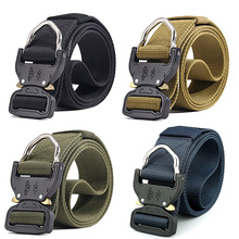 High Quality Hunting Tactical Waist Belt Adjustable Nylon Military Belts with Metal Buckle Accessories
