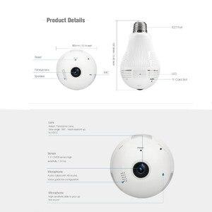 Image 3 - 360 Degree LED Light 960P Wireless Panoramic Home Security Security WiFi CCTV Fisheye Bulb Lamp IP Camera
