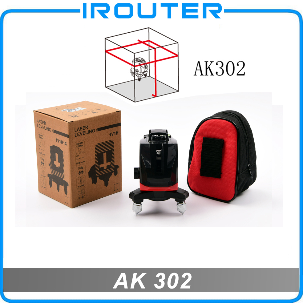 ACULINE 2017 New model , AK302 red laser level , red ray level , 5 lines laser level lp 102d laser level