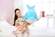 new creative lovely plush dolphin toy stuffed blue dolphin doll gift about 60cm