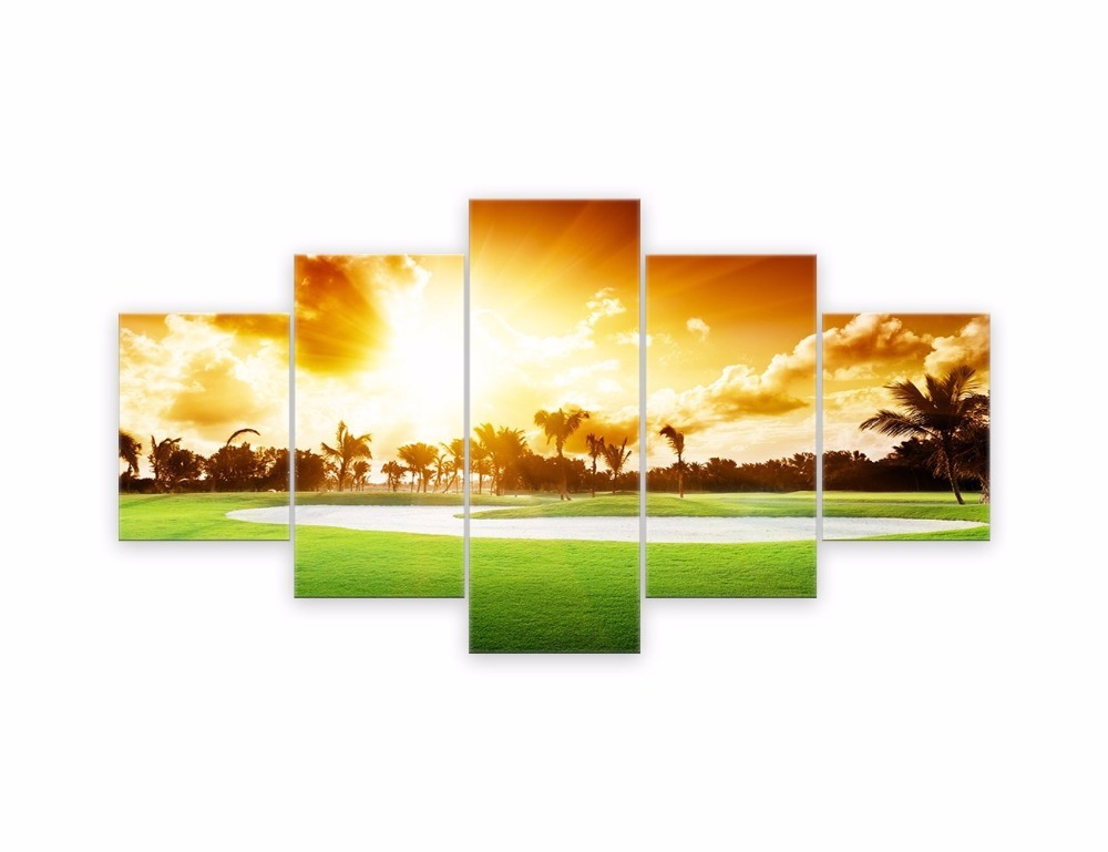 Wall Decor for Living Rooms Beautiful Golf Course Landscape Painting ...