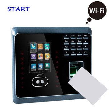 ZK UF100 Plus Biometric Face And Fingerprint Time Attendance 13.56Mhz Reader WIFI Face Time Clock Employee Time Attendanc