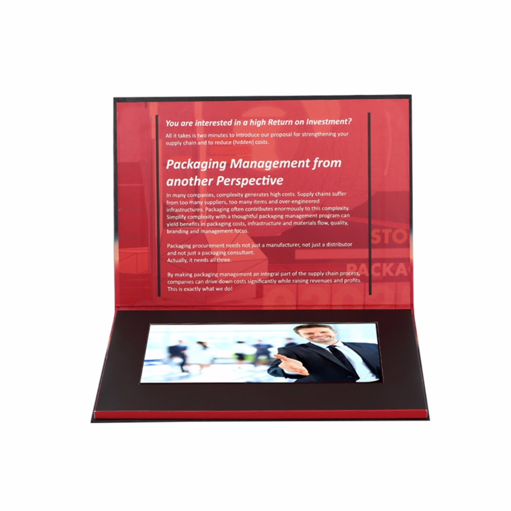 Professional customized 2 4 inch video brochure video