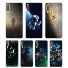 Silicone Phone Case Spaceman Astronaut Printing for Samsung Galaxy A8S A9 A8 Star A7 A6 A5 A3 Plus 2018 2017 2016 Cover
