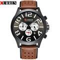 CURREN Новый Черный Циферблат Цифровой Бренд Класса Люкс Спорт Хронограф Кварцевые Мужские Часы Моды Случайные Наручные Часы Для Кожи