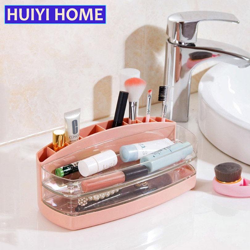 HUIYI HOME Desktop Makeup Tools Storage Box Multi-Grid Sundries Cosmetics Sorting Box EGL328 ...