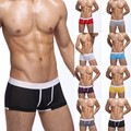 Mens Solid Color Boxers Underwear Mesh Holes  Underpants M-XXL New