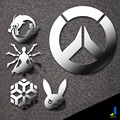 Rye Pioneer Stickers Animation  Overwatch  Automotive Supplies Decorative Car Stickers  Personalized Car Stickers Metal JSD-3242