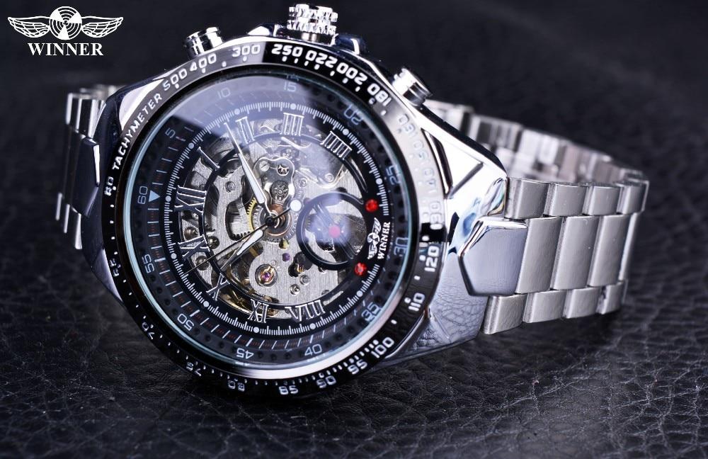 Winner New Number Sport Design Bezel Golden Watch Mens Watches Top Brand Luxury Montre Homme Clock Men Automatic Skeleton Watch 10