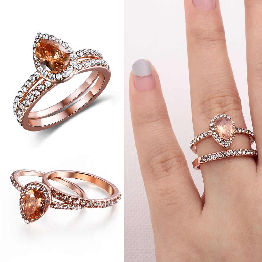 Лидер продаж 2019 Для женщин Посеребренная блестящая любовь кольцо в форме сердца люкс для AAA CZ свадебные ювелирные кристаллы Кольца Бесплатная доставка