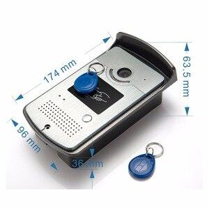 Image 5 - SmartYIBA السلكية باب الهاتف الصوت دردشة الفيديو إنترفون بطاقة التعريف بالإشارات الراديوية فتح مع 1/2 شاشات مكالمة فيديو للمنزل الخاص للرؤية الليلية