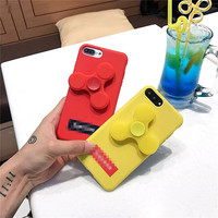 Candy Color Fidget Spinner Finger EDC Hand Spinner Phone Case For IPhone 6 6S 7 Plus