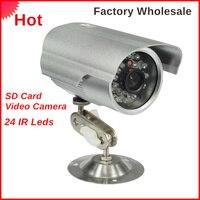 Im freien Wasserdichte Gewehrkugel Ip-kamera Unterstützung Sd-karte 24 IR Leds HD Survelliance CCTV IP Cam IR abstand 5-15 mt Fabrik großhandel