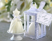 Wedding Favor Gift Bride Candle with PVC box Party Valentine's Gift craft candle Free Shipping