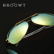 BROOWT Brand Polaroid Sunglasses Men's Women's UV400 Protection Polarized Driving Alloy Sun Glasses For Men Women BR394