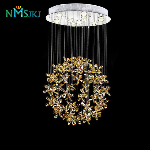 Flower Crystal Chandelier Light Res De Cristal Modern Lighting Fixture For Indoor Decoration Ac110v 240v