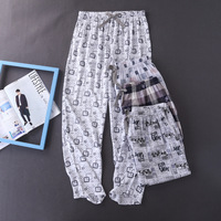 Men's Pajamas Underwear Men Pijama Hombre 100% Cotton Sleep Bottoms