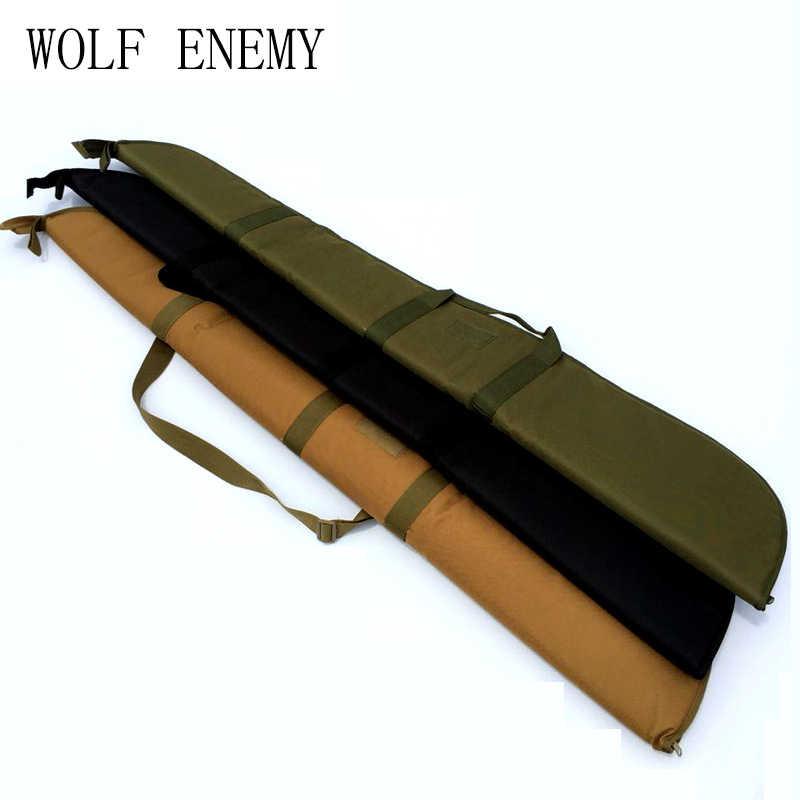 狩猟 132 センチメートル銃ライフルバッグ屋外の戦術キャリングバッグ軍用銃ケースショルダーポーチエアガン撮影塗装ボール