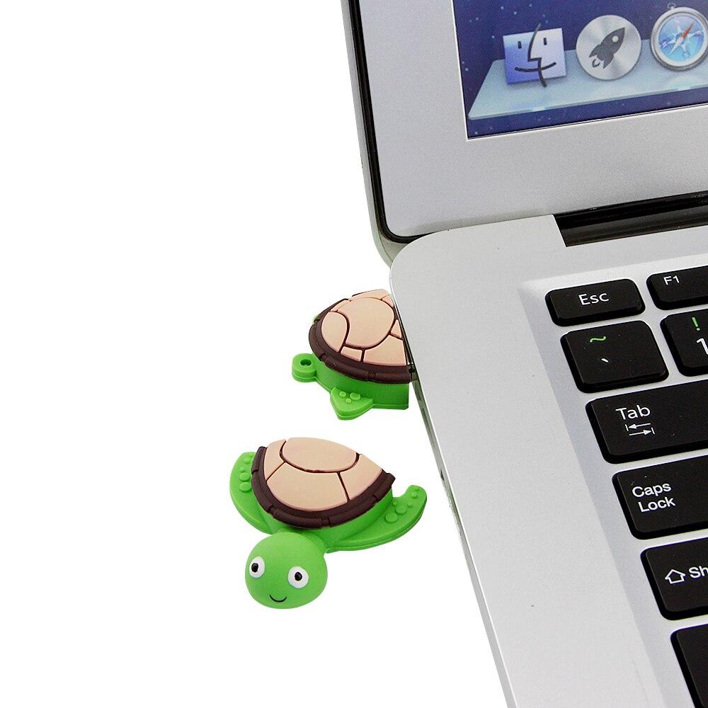 high speed cute tortoise pendrive 32G 64G 128gb  memory stick mini creative gift usb flash drive