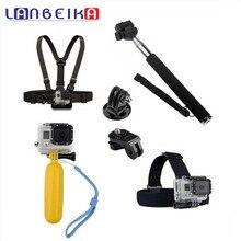 Lanbeika для GoPro Аксессуары монопод Штатив поплавок нагрудный ремень комплект для SJCAM Go Pro Hero 5 4 3 + SJ4000 SJ5000 M20 SJ6 SJ7