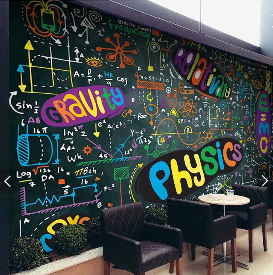 Parete Dipinta A Lavagna us $8.99 50% di sconto|dipinto a mano della parete di carta gesso colorato  carta da parati murale per la lavagna papel de parede personalizzare