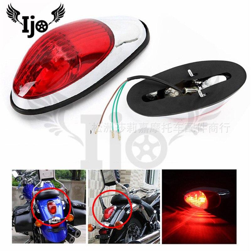 Professionelle marke teil moto hinten anzeige moto rcycle bremslicht für harley honda VLX4 magna 250 Schatten 400 schwanz licht moto