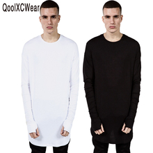 hip hop 888 Hot solid men long sleeve T shirts fashion mens casual top tees plus size XXXL
