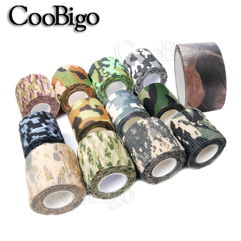 50 Roll Pick Colors Outdoor Camo Adhesive Duct Tape Camouflage Waterproof Hunting Camping Stealth Tape Wraps