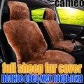 Шерсть, 100% чистой овечьей шерсти автомобиля подушки сиденья зима полный шерсти автокресла чехлы 5 мест/set