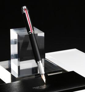 Image 2 - גיבור 200E 14K זהב אוסף מזרקת עט מט שחור/אפור זהב/כסף קליפ בסדר ציפורן מתנה עט ותיבה עבור עסקים משרד