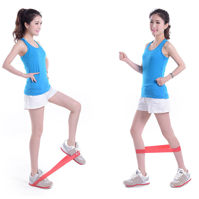 4PCS/Set Elastic Resistance Bands   Workout Rubber Loop For Fitness Gym