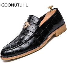 2019 new style fashion men's shoes casual leather loafers male black brown big size 38-47 slip on shoe man oxfords shoes for men