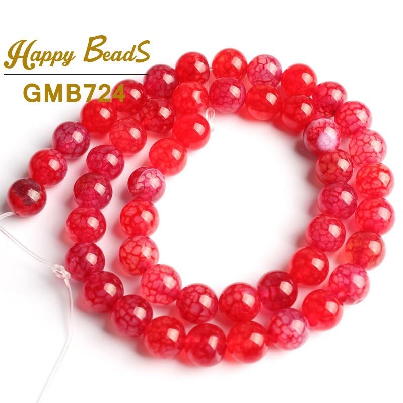 hot selling Blue Fire Dragon Veins Agate Gem Round Beads 8mm Strand nice  M DA