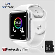 A1 reloj bluetooth smart watch deporte podómetro con sim cámara smartwatch para android smartphone de rusia t15 bueno que dz09